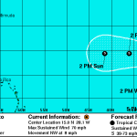 Tropical Storm Humberto continues gaining strength (...with notes and fun facts)
