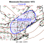 Mesoscale Discussion 1872, severe thunderstorms possible for Northeastern United States