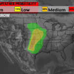 Southern Plains storms likely Saturday