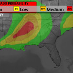 Severe weather threat shifts to southeast Monday