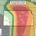 The SPC issues Moderate Risk for Severe Weather Tuesday for Plains