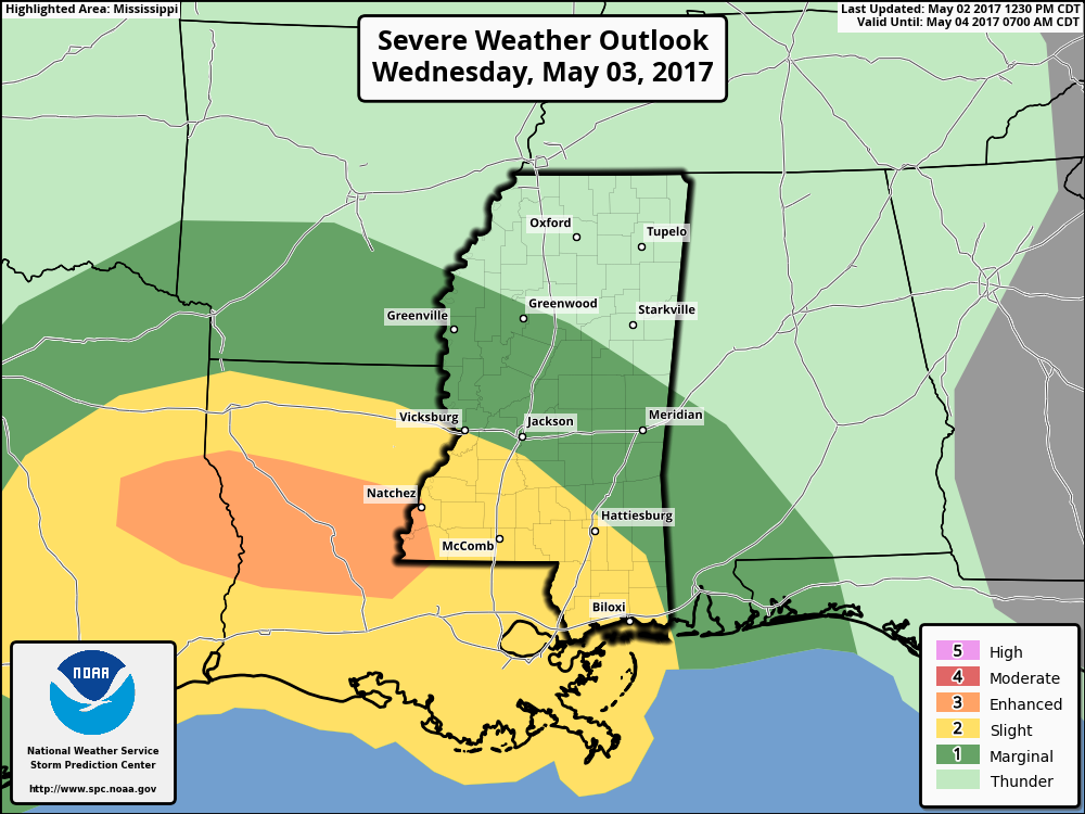 One Last Round Of Severe Weather For South Mississippi - Map of south mississippi