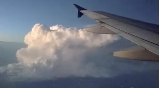 Lightning show from mid-air