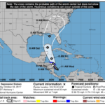 Tropical Depression 16 forecast track
